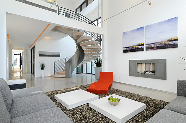 Incredible Addison residence living room stairs 629 x 418 · 101 kB · jpeg